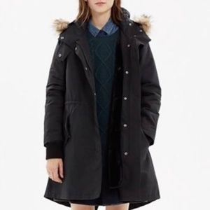 Madewell field parka in black